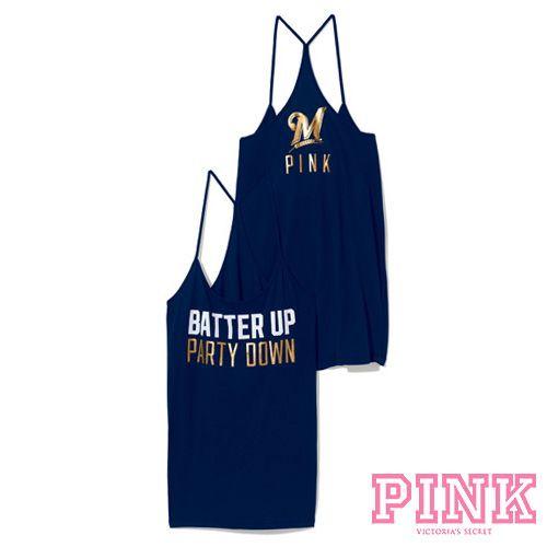 a0528a9a $32.50 Milwaukee Brewers Victoria's Secret PINK® Skinny Racerback ...