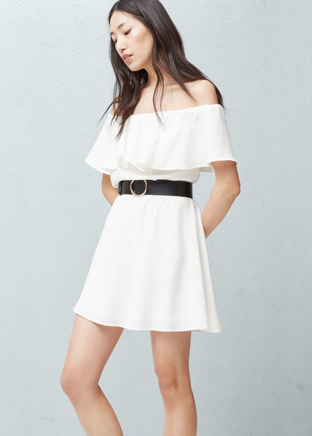 Frilled belt dress - Woman   Dresses   Pinterest   Dresses, Belted ... 6e2361ba2f7