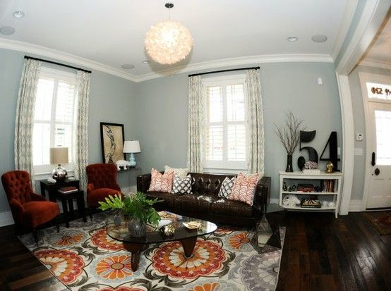 Eclectic Living Room Brown Couch Living Room Living Room Grey