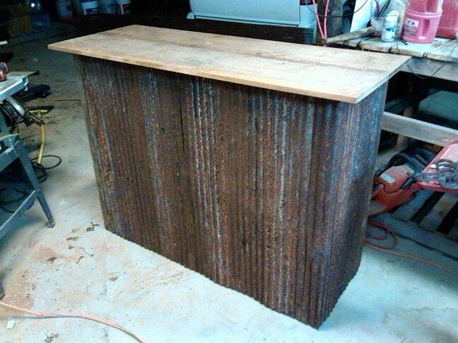 Rustic Barn Wood Tin Bar Stuff I Have Made Outdoor