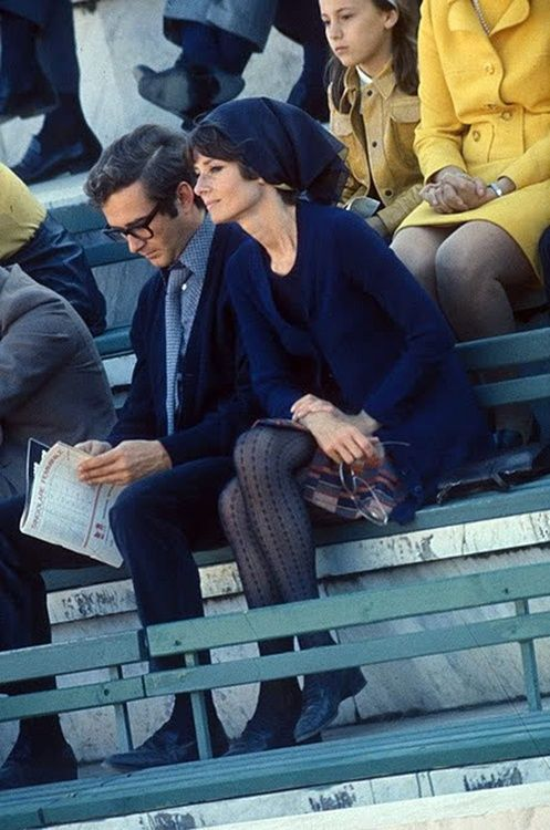 Audrey Hepburn with her husband Andrea Dotti [1970]