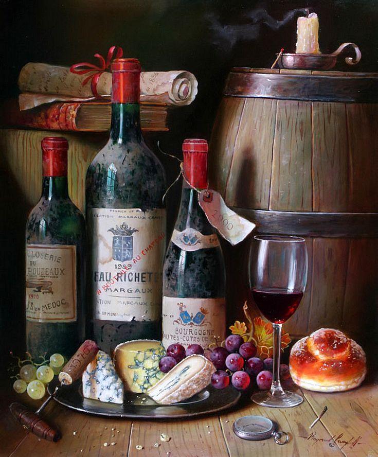 Картинки для декупажа натюрморт с вином