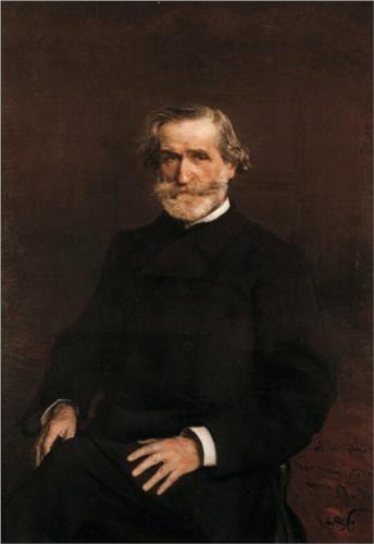 Portrait of Guiseppe Verdi (1813-1901)   - Giovanni Boldini