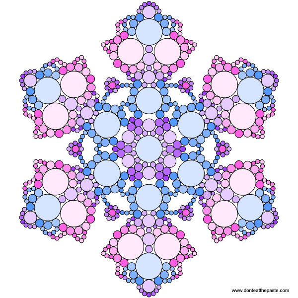 Don't Eat the Paste: Snowflake Mandala to Color