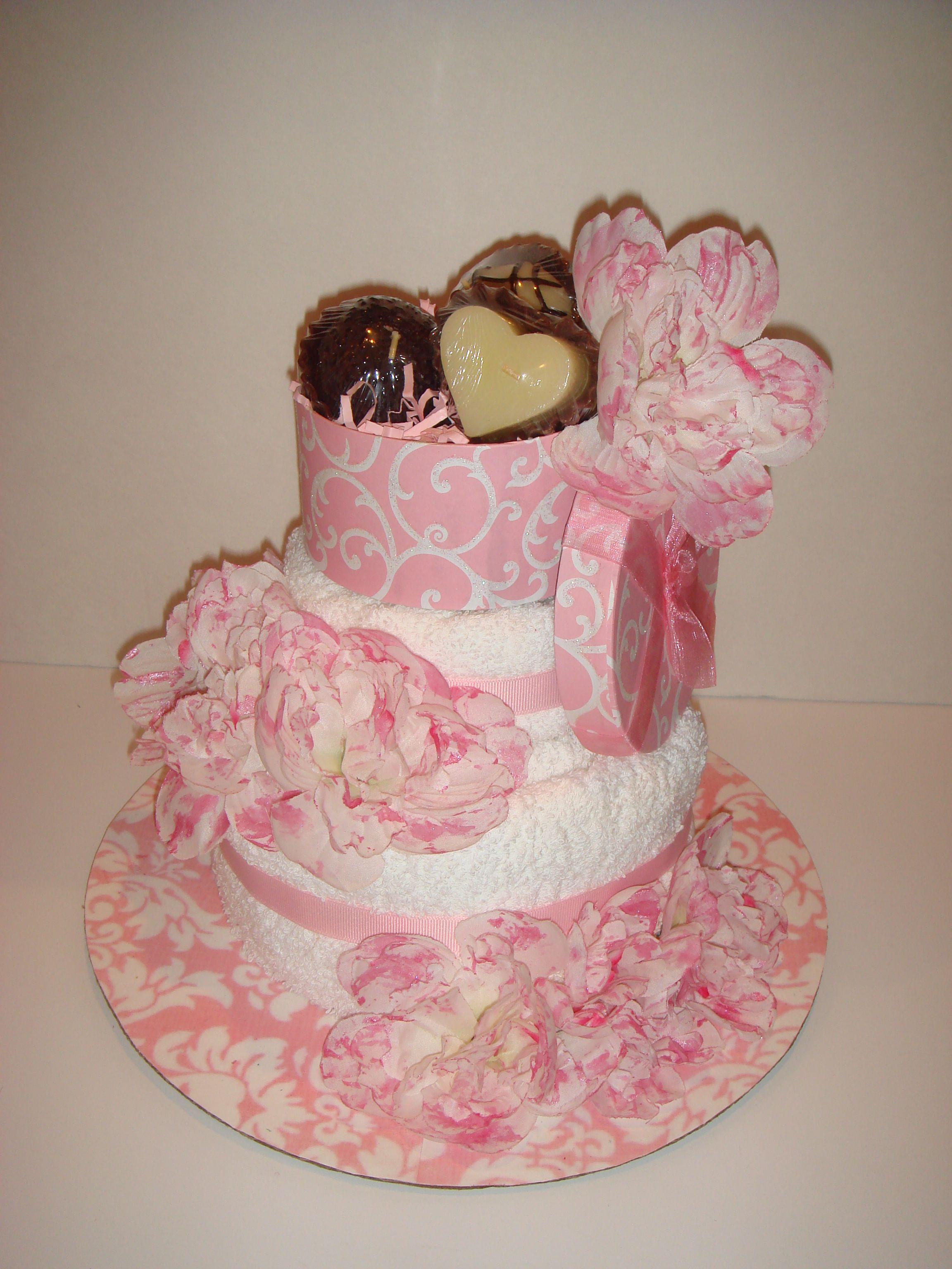 Pretty in Pink Towel Cake Pink towels, Cake, Diaper cake