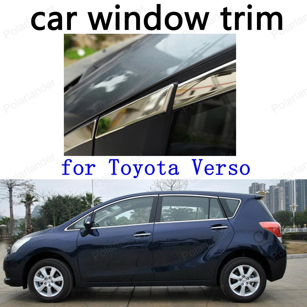 93.90$  Watch now - http://ali57d.worldwells.pw/go.php?t=32708373417 - car stying for Toyota Verso Window Trim  Car Exterior Accessories Stainless Steel Decoration Strips  93.90$