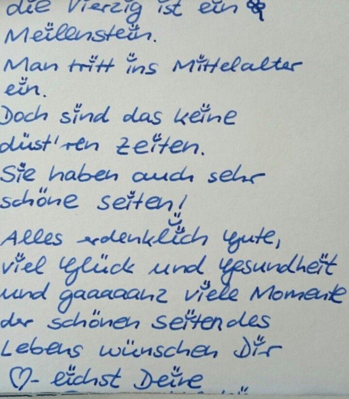 Spruch Zum 40 Geburtstag Mone