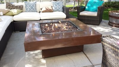 Use landscaping glass in your natural gas or propane fire pit to create a gorgeous, eye-catching accent!