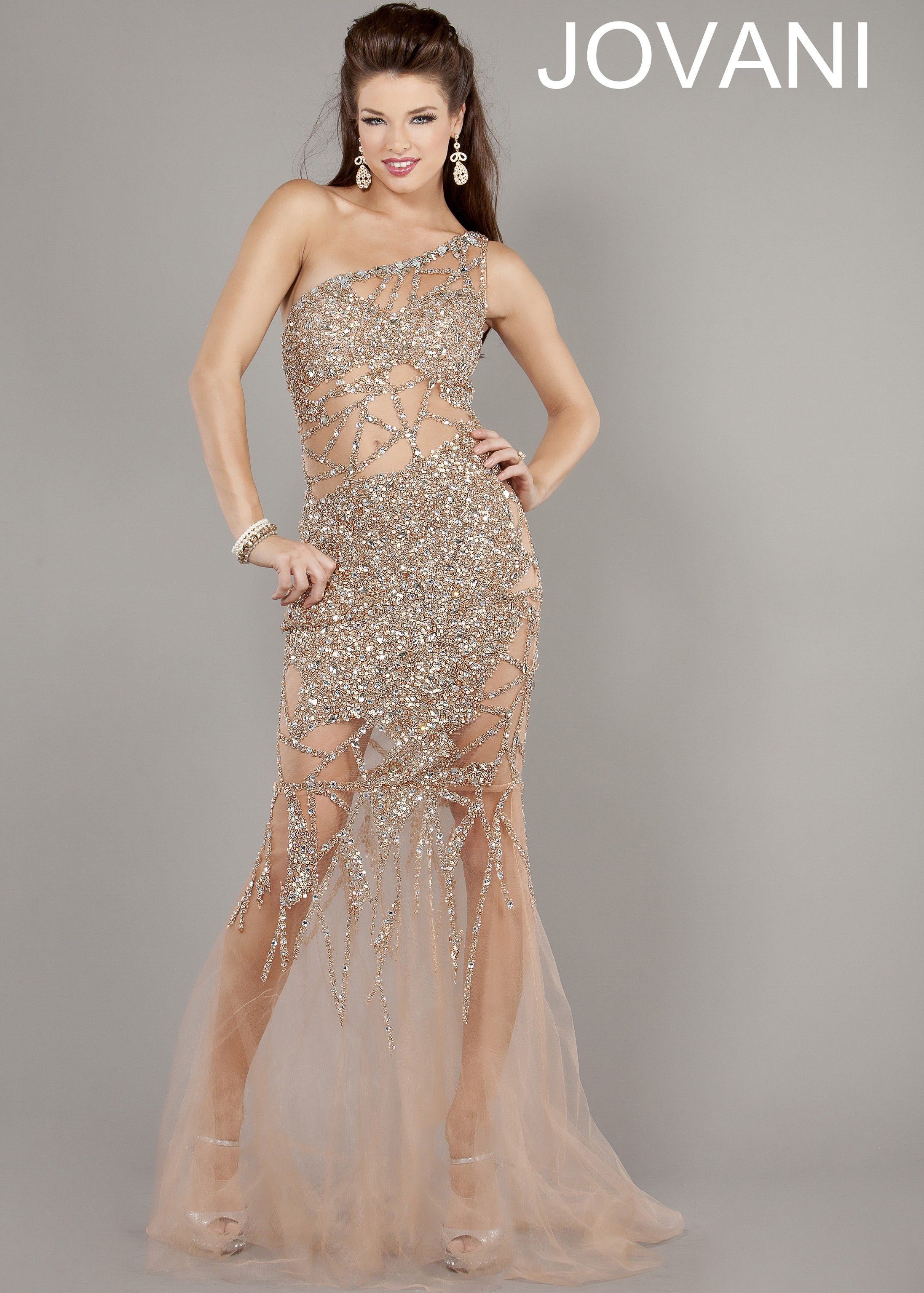 Jovani 6395 Sheer Nude Gown 2013 Prom Collection Prom
