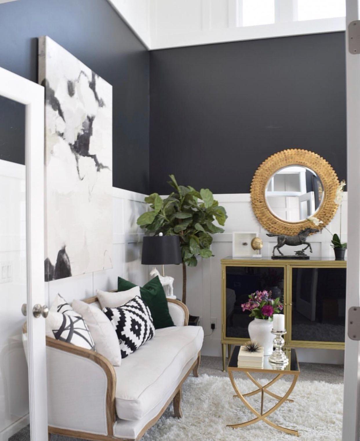 Two Tone Walls Living Room Wall Color Living Room Wall Living Room Colors