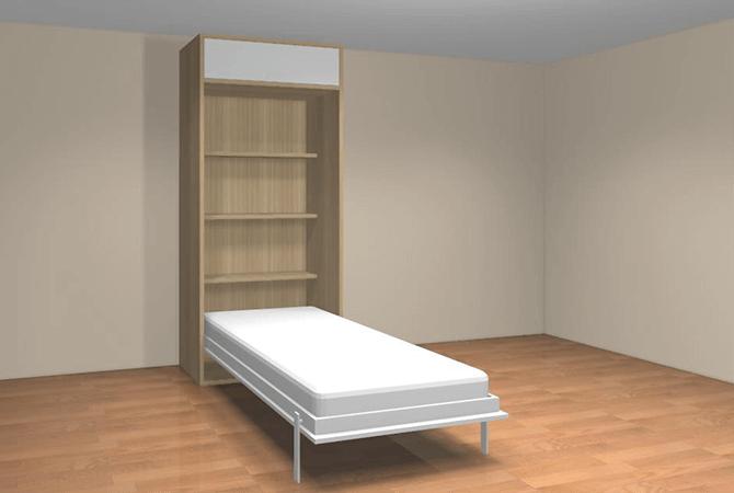 armoire lit escamotable verticale 90 x