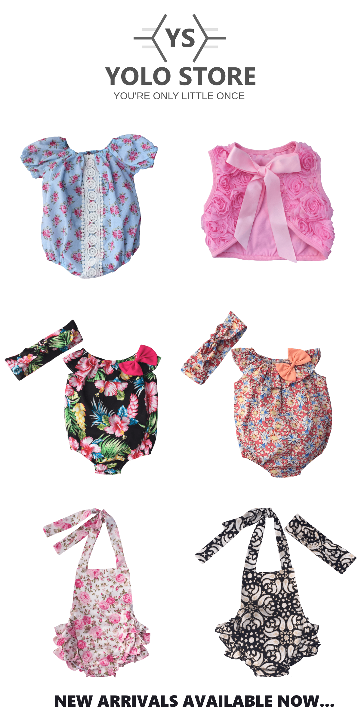 A selection of the latest vintage inspired baby clothing styles