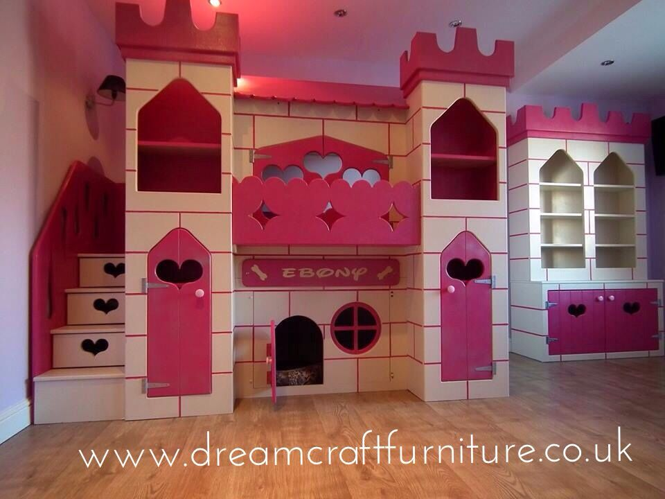 Princess Castle Themed Cabin Pink Den Bed With Storage