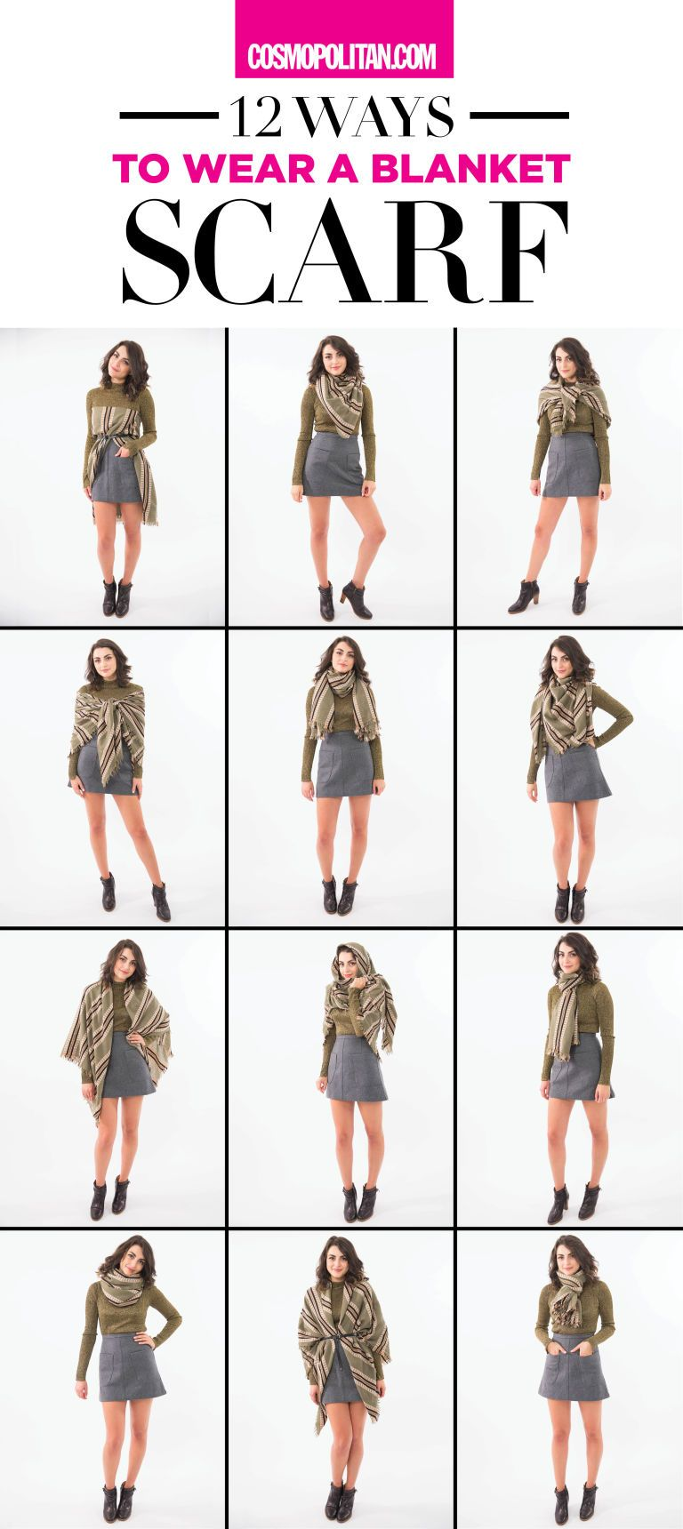 11 Ways to Wear a Blanket Scarf  6d19bc05f