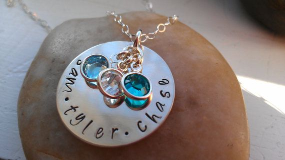 hand stamped personalized sterling silver mommy by thecharmedwife, $32.00