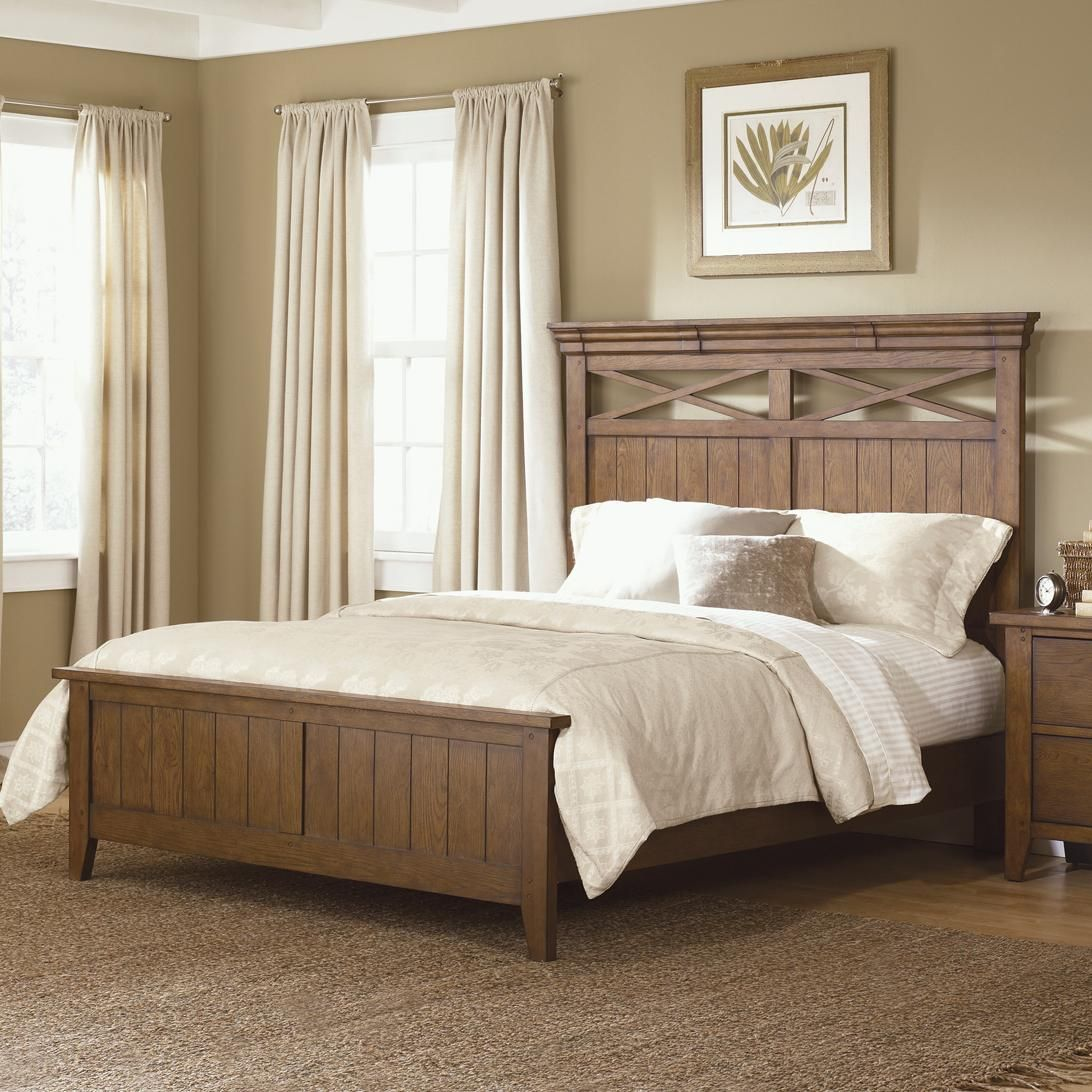 Country Style King Panel Bed Belpre And Parkersburg, Mid Ohio Valley Area  Furniture Store