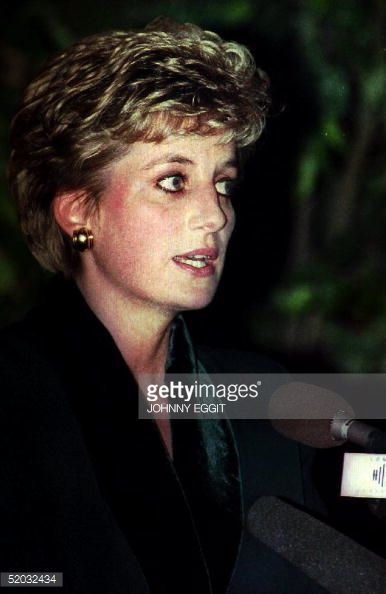 1993--at a charity lunch at the Hilton Hotel, London, at which she gave a speech resigning from her public duties, 3rd December 1993