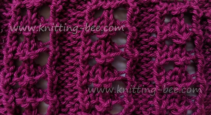 Eyelet Rib Free Knitting Pattern Designed By Knitting Bee