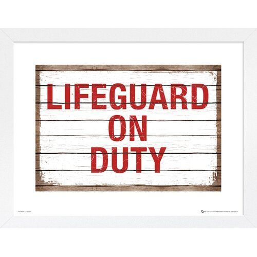 Happy Larry Gerahmtes Poster Lifeguard On Duty Wayfair De Duty Gerahmtes Happy Larry Lifeguard Poster Wayfaird In 2020 Happy Larry Lifeguard Poster Frame