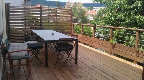 garde-corps bois et inox grad | aménagement extérieur | Pinterest ...