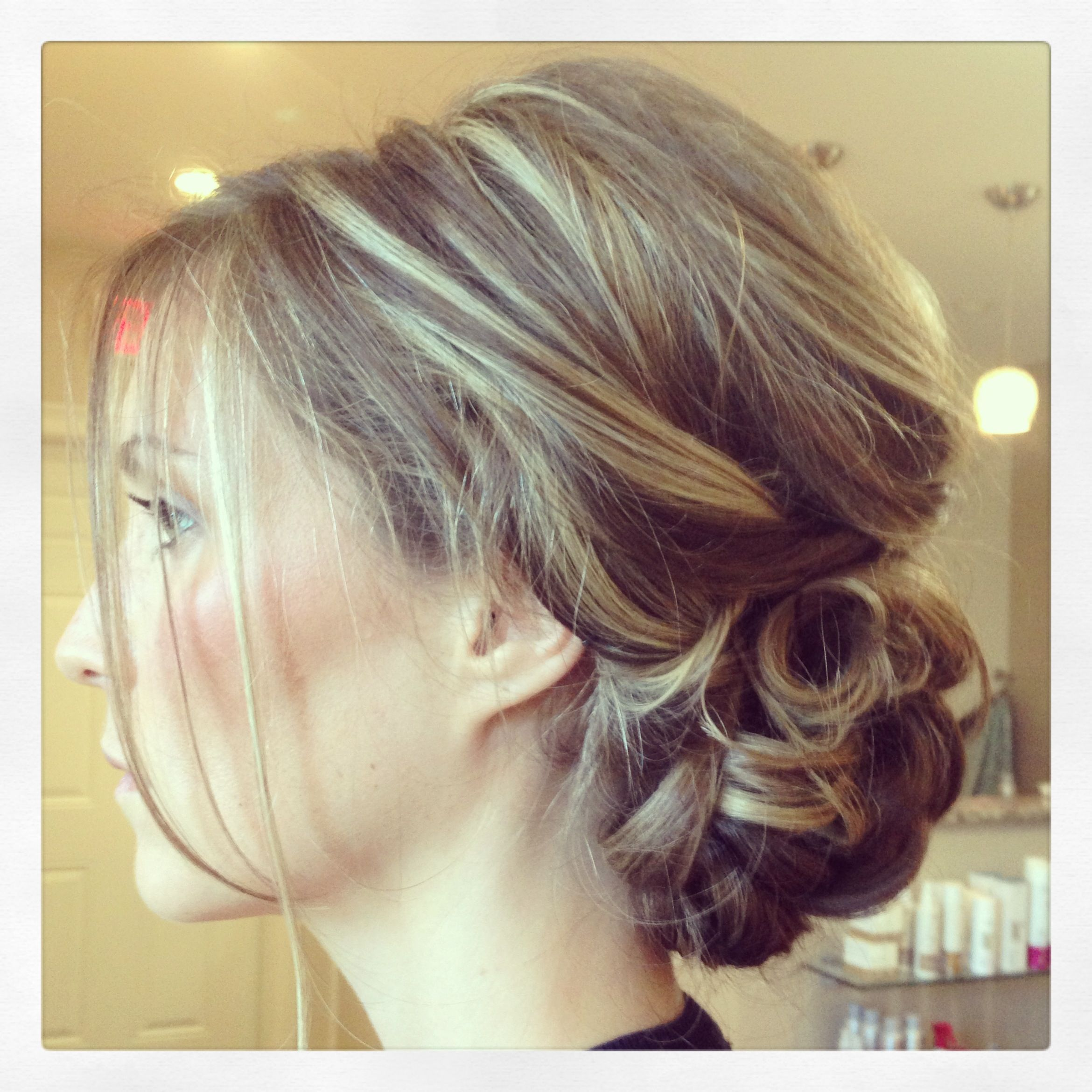 Loose curled updo wedding hair inspiration pinterest bridal