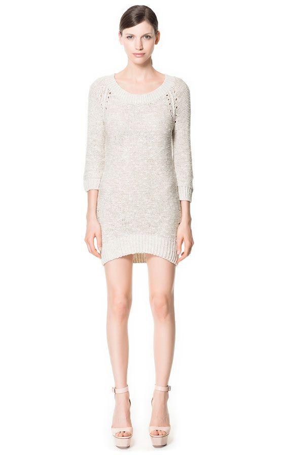Image 1 of OPENWORK LONG SLEEVE DRESS from Zara