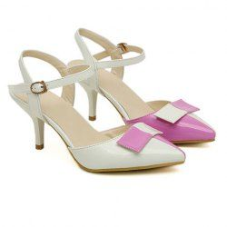 $12.51 Elegant Women's Sandals With Bow and Color Block Design