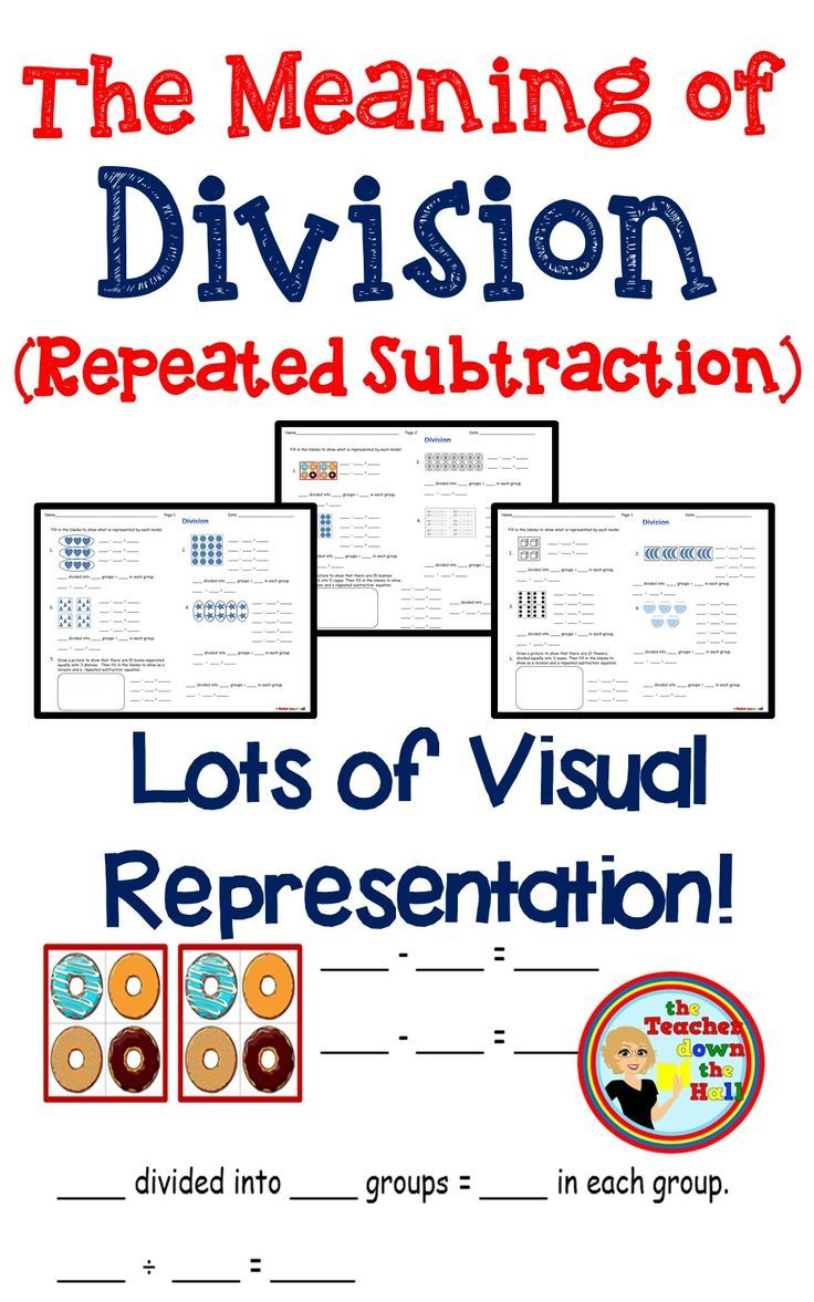 Division Arrays (Repeated Subtraction) Meaning of