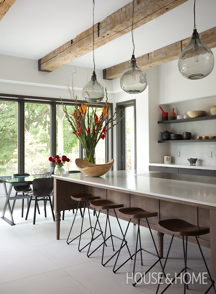 A Warm And Inviting Kitchen With Smart Storage | Design: Nora Voon Of Noda  Designs Photo: Jason Stickley