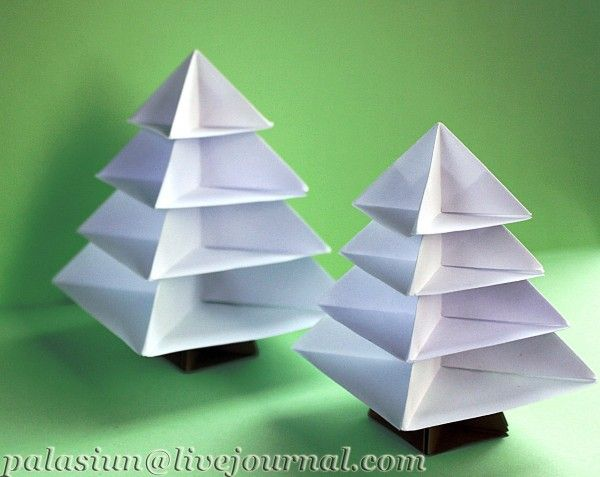origami pyramid christmas tree Paper art Pinterest Origami