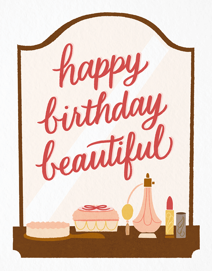 Happy Birthday Beautiful card by Scotch & Cream on Postable.com