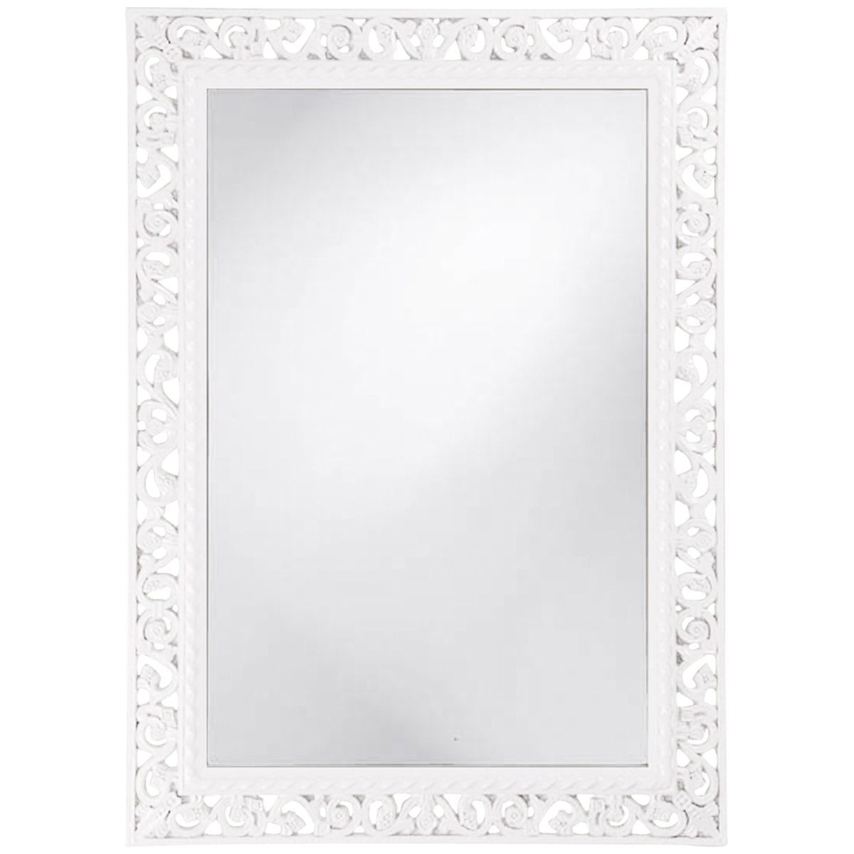 Howard Elliott Rectangle Bristol Glossy White Mirror 6041W