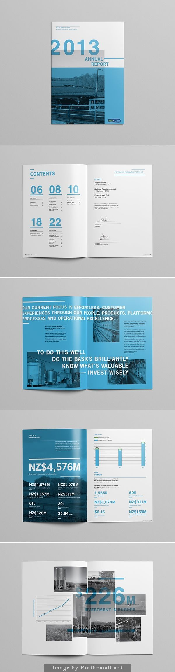 Annual Report By Minhye Kim Via Behance  Annual Report