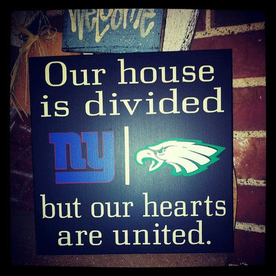 Personalized Nfl House Divided Sign By Vinylupyourspace On Etsy 30 00 House Divided Vintage Milk Can Wonder Quotes