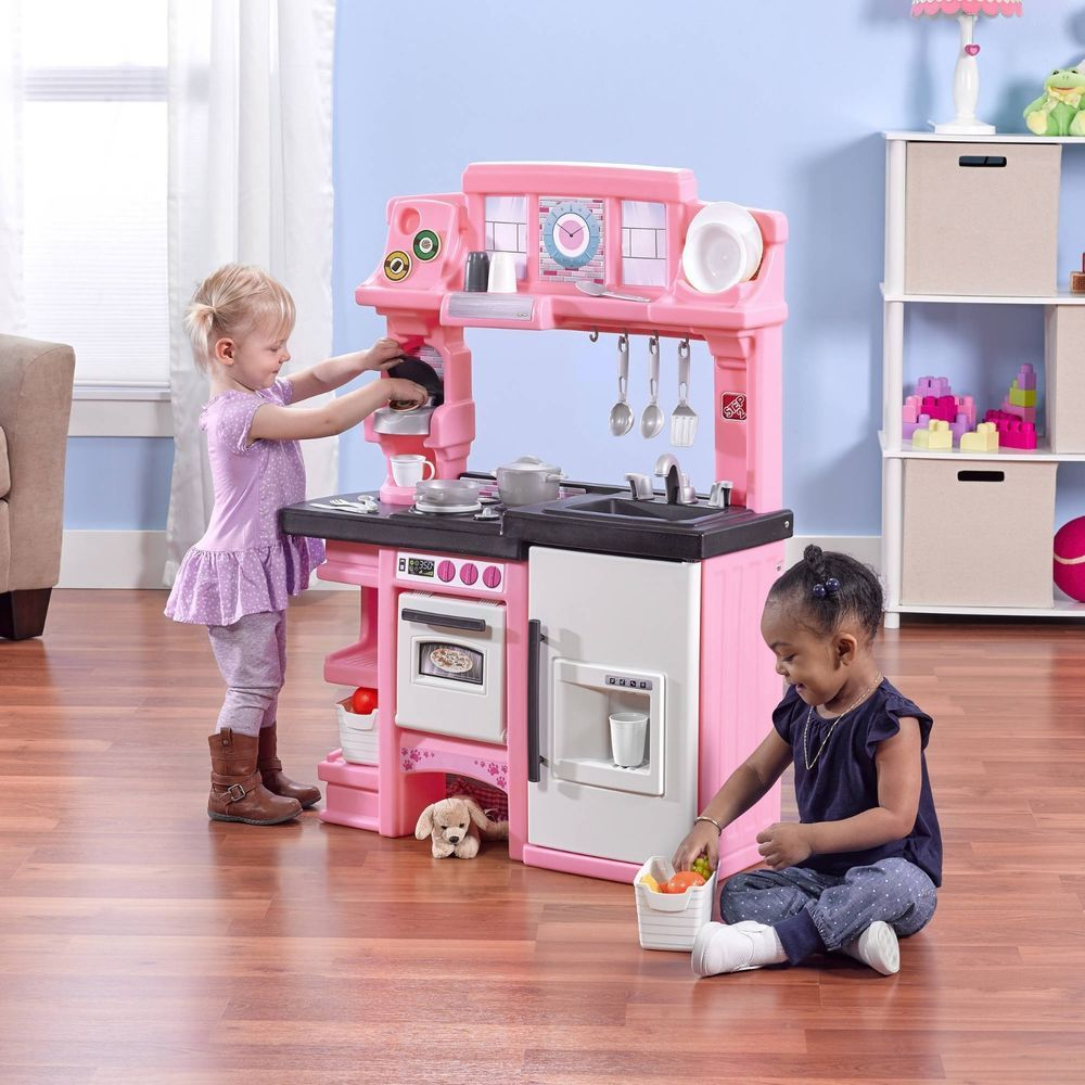 Kitchen For Kids Girls Playset Toddler Pretend Play Toy