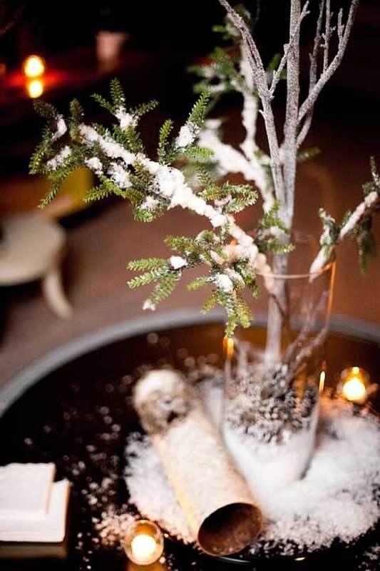 Rustic Winter Wedding Decorations Rustic Winter Wedding Decor For