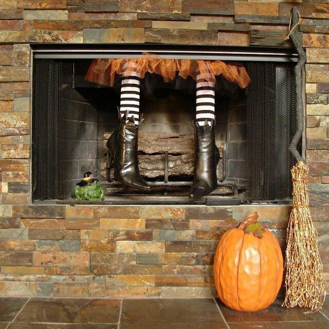 Witch legs party home fun diy halloween decorating halloween - cheap easy diy halloween decorations