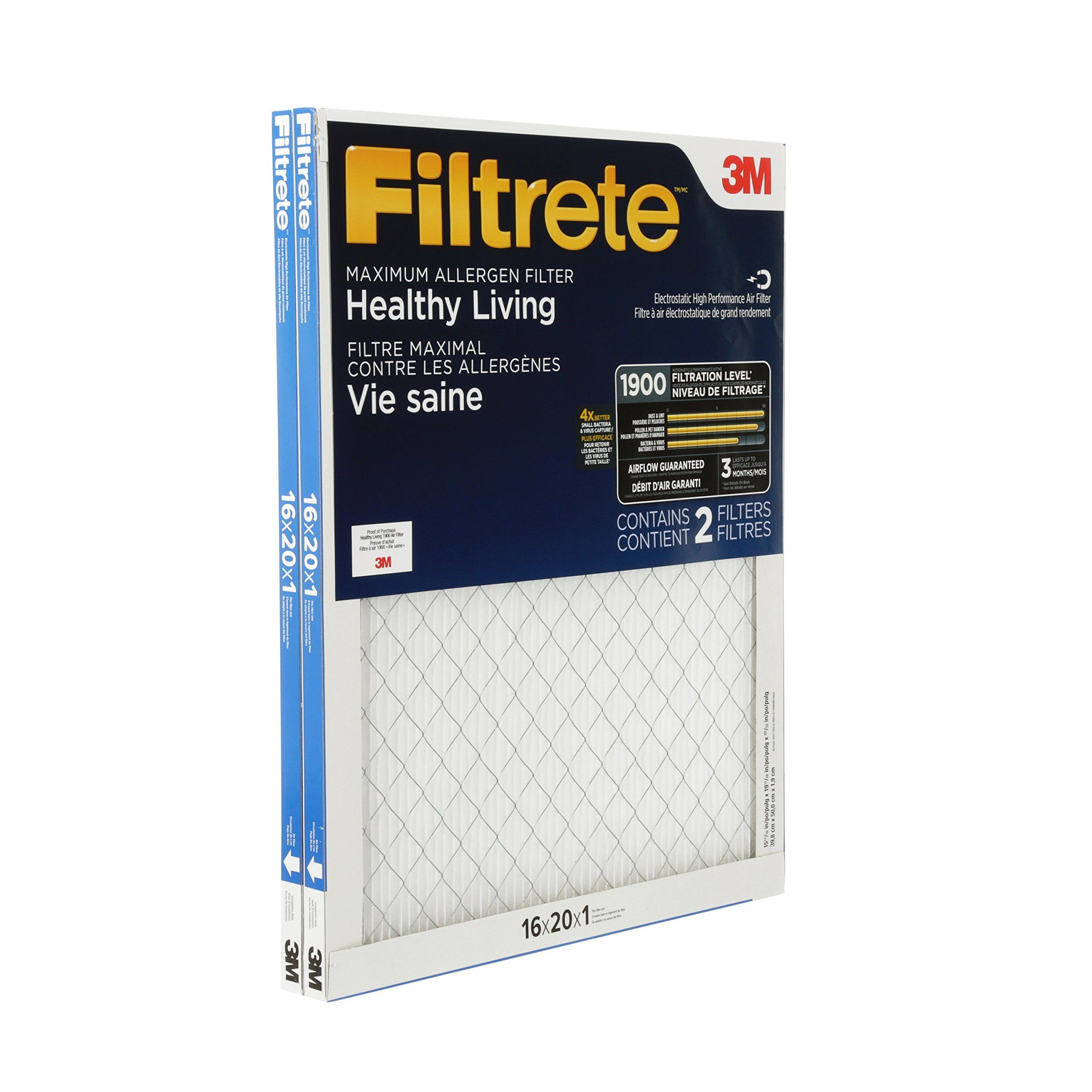 Filtrete MPR 1900 16 x 20 x 1 Healthy Living Ultimate