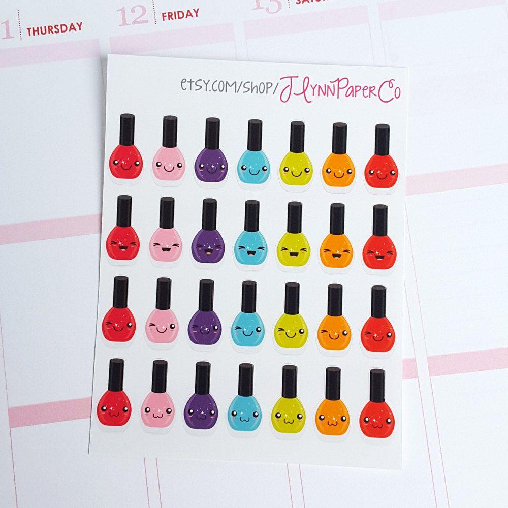 28 Kawaii Nail Polish Stickers, Nail Polish, Rainbow, Kawaii, Cute ...