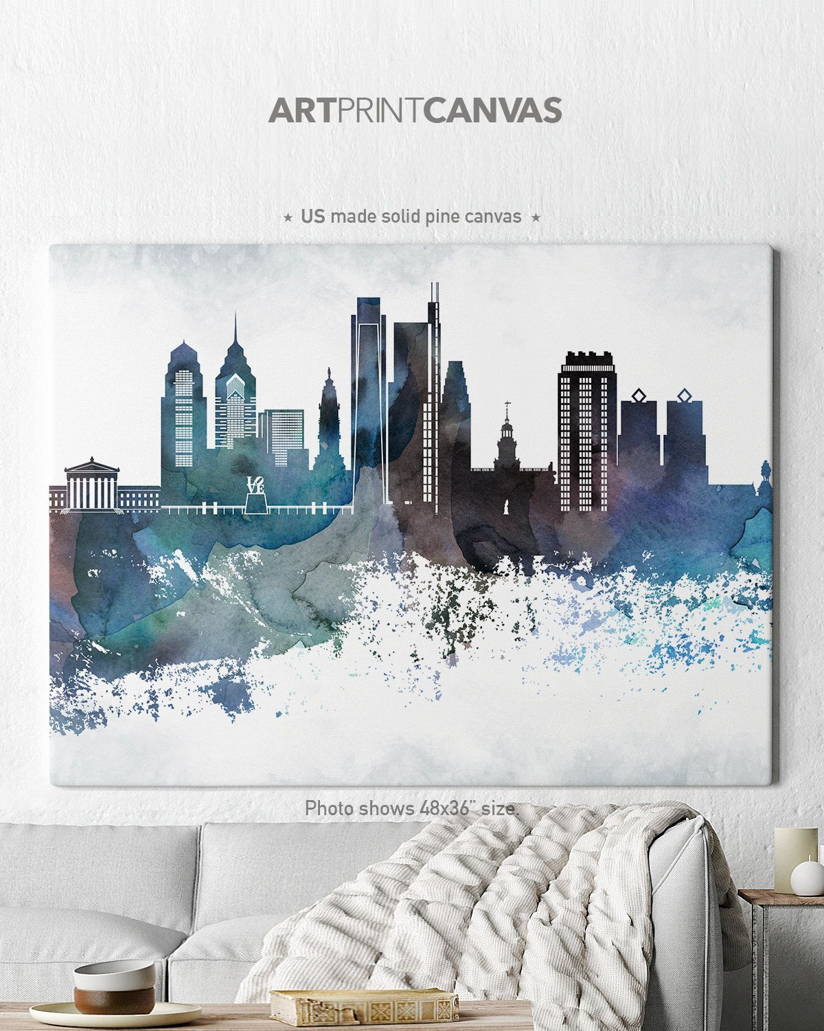 Philadelphia Canvas Print Philadelphia Skyline Canvas Print Etsy In 2020 Canvas Prints Paris Canvas Canvas Wall Art