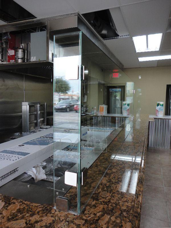 Restaurant Custom Glass Sneeze Guard Restaurant Layout Custom Glass Frameless Shower Doors