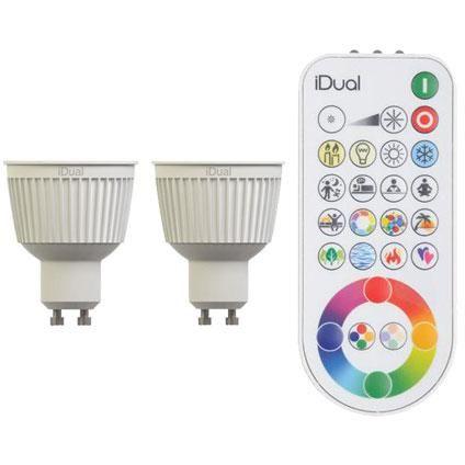 Idual Led Lamp Gu10 230lm Incl 2 Lampen En Afstandsbediening Led Lamp Led Afstandsbediening