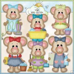 House Cleaning Mouse 1 - NE Kristi W. Designs Clip Art