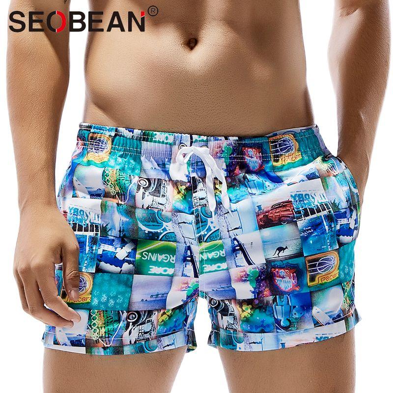 SEOBEAN Mens Sports Board Beach Surf Shorts
