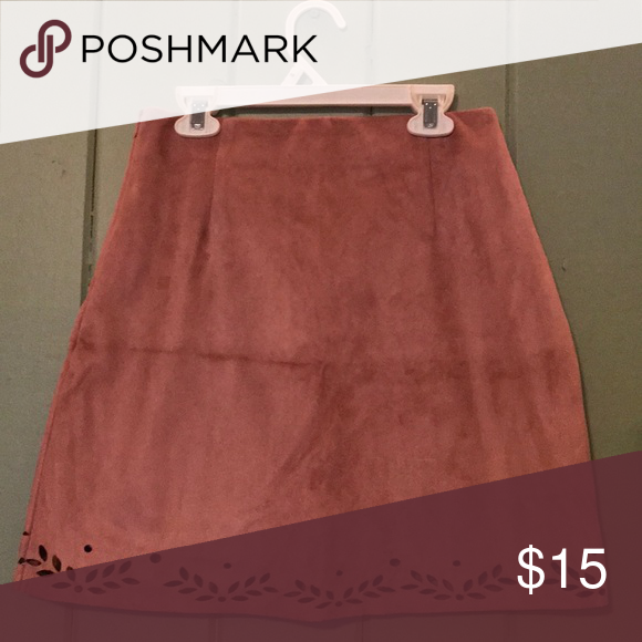 6060b6adcb Suede Skirt Suede skirt in color Blush side zip closure USA 4, EUR 36, UK 8 Primark  Skirts Mini