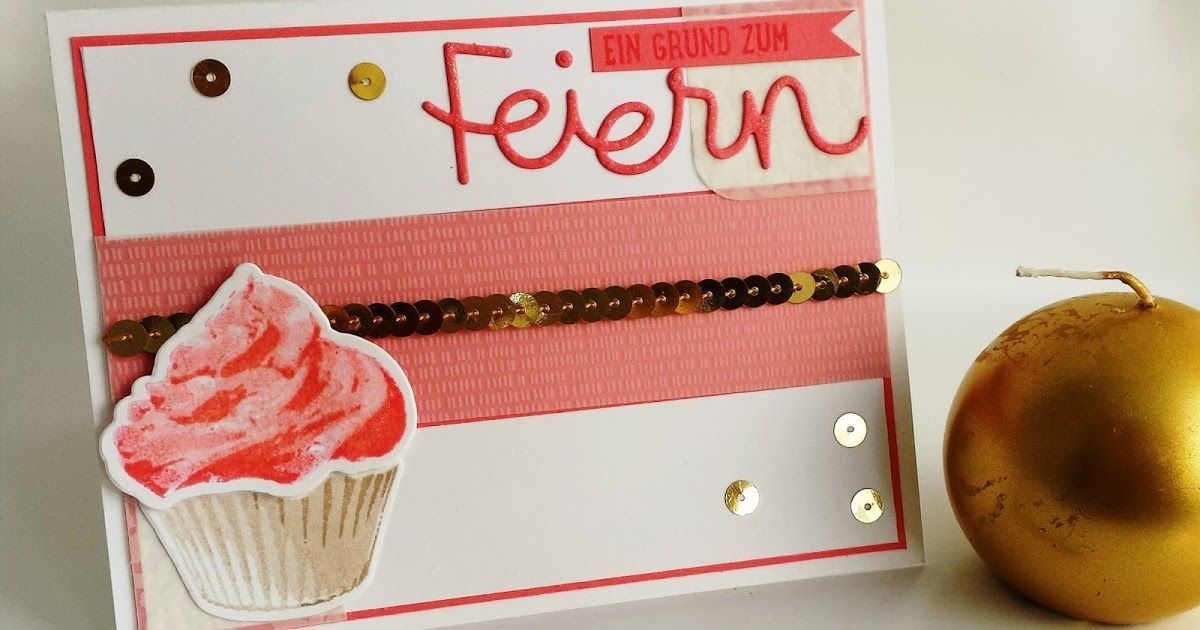 New cupcakes by stampin up! Sweet card with flirty flamingo icing :o) www.papierkreationen.net