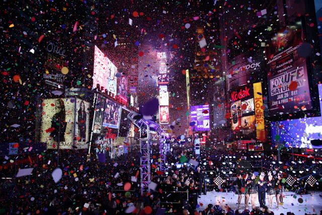 happy new year from times square