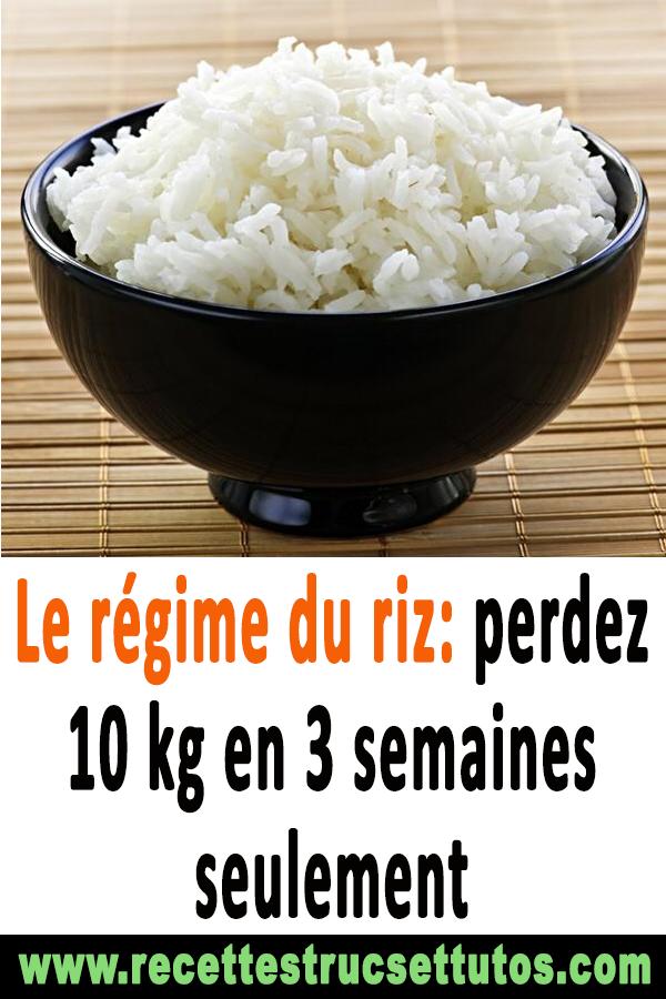 Le régime du riz: perdez 10 kg en 3 semaines seulement