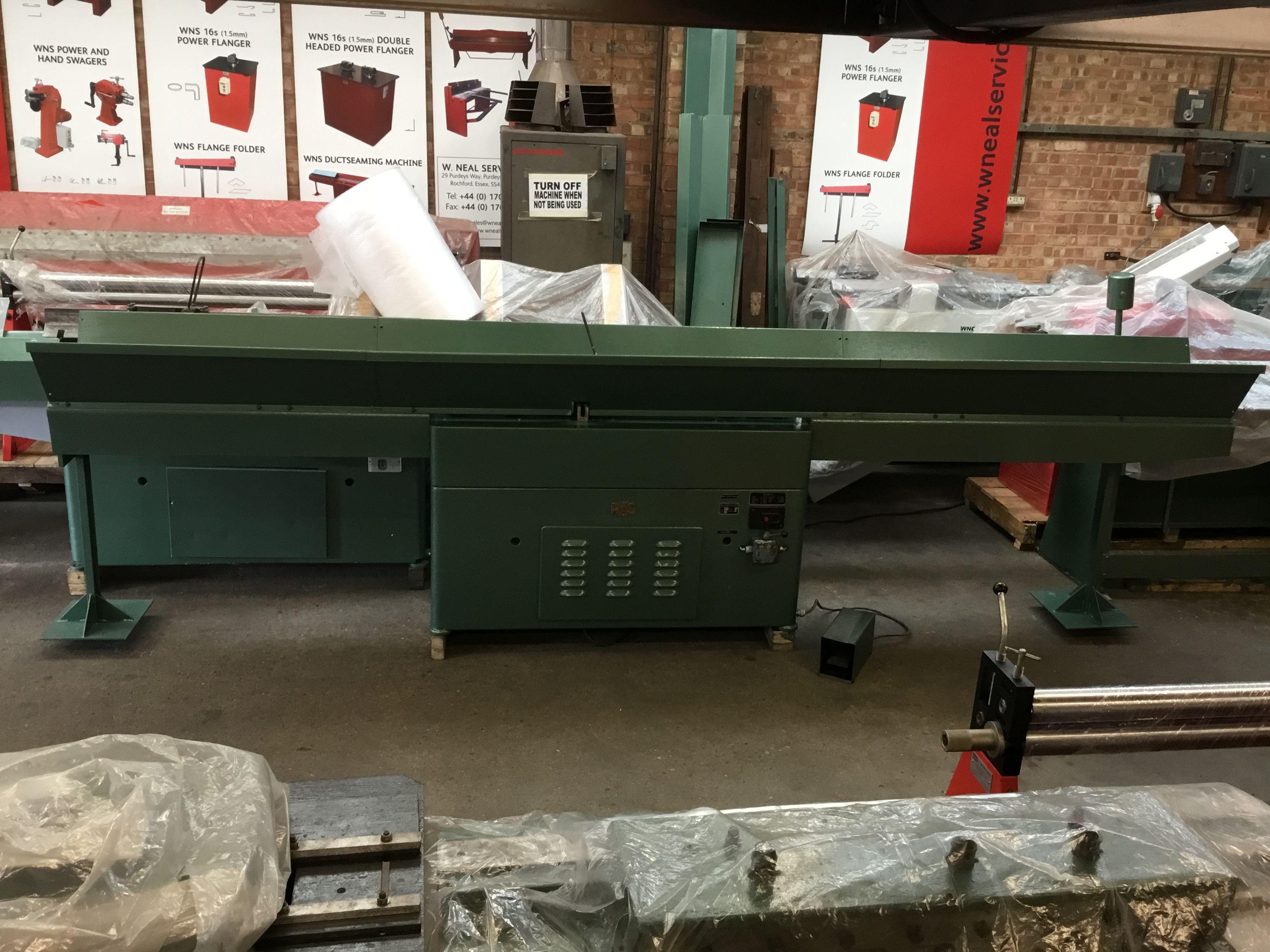 Ras Ductseamer Duct Seamer Seaming Machine 22 81 Machine Service Metal Working Manufacturing