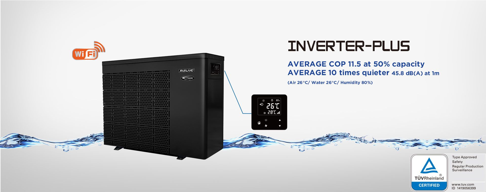 Wärmepumpe Pool Inverter Inverter Plus Fairland Full Inverter Pool Heat Pump The Best